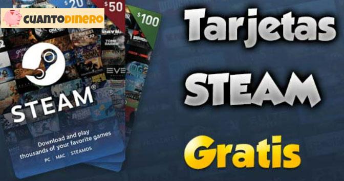 tarjetas steam gratis