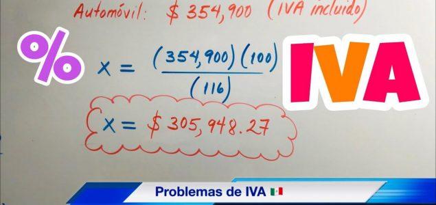 Cómo calcular IVA en México