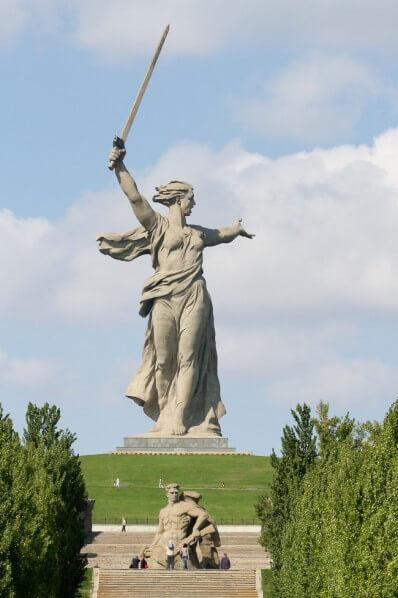 El Mamayev Monumento de frente