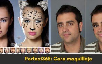 maquillar fotos mias con Perfect365: Cara maquillaje