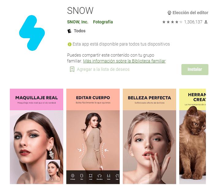 Imagen de La popular app SNOW – Cámara RA 12