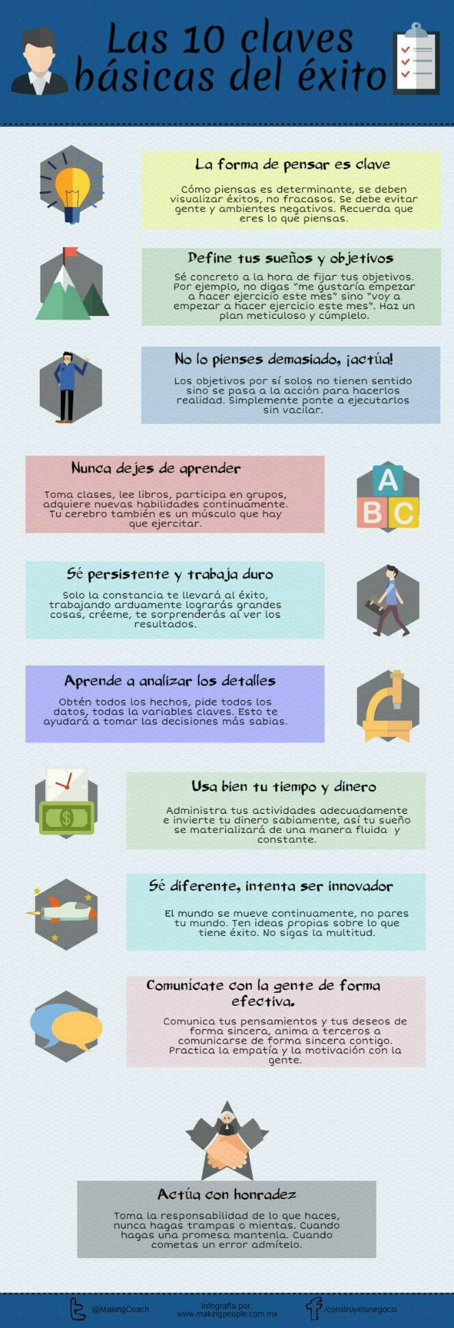 Infografia 10 claves basicas para el exito