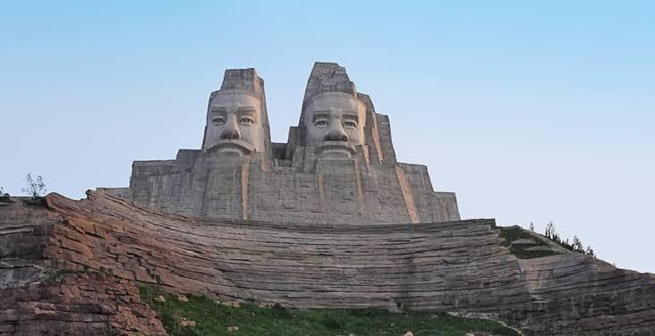 La segunda estatua mas grande del mundo Huangdi y Yandi