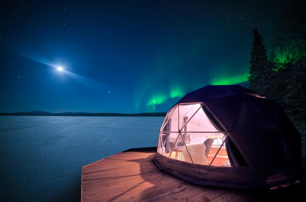 Aurora Dome en Harriniva, Finlandia.